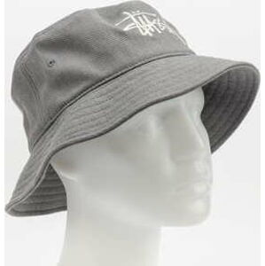 Stüssy Big Logo Twill Bucket Hat šedý L-XL