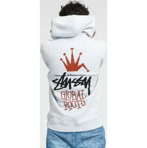Stüssy Global Roots Hood melange šedá S