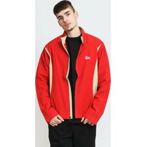 Stüssy Panel Track Jacket červená / béžová XL