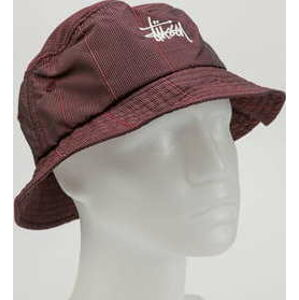 Stüssy Reflective Window Pane Bucket vínový L-XL