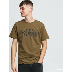 The North Face M S/ Woodcut Dome Tee khaki