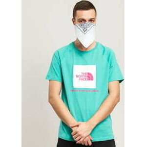 The North Face M SS Rag Red Box Tee tyrkysové L