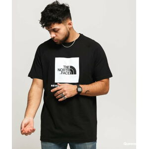 The North Face M SS Rag Red Box Tee černé XXL