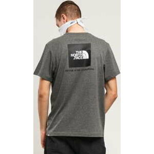 The North Face M SS Red Box Tee tmavě melange šedé XXL