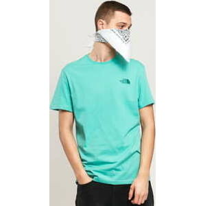 The North Face M SS Simple Dome Tee tyrkysové L