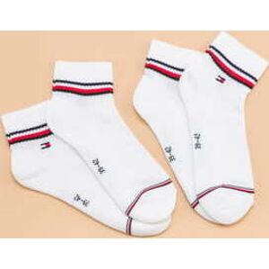 Tommy Hilfiger M 2Pack Iconic Quarter Sock bílé EUR 43-46