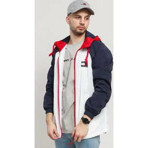 TOMMY JEANS M Colorblock Zipthrough Jacket bílá / navy / červená XL