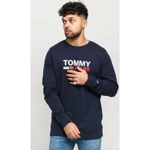 TOMMY JEANS M Corp Logo Crew navy L