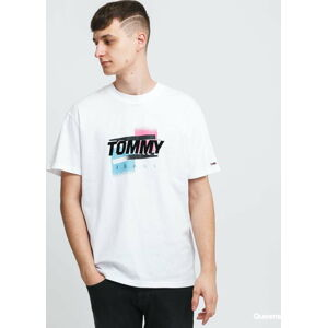 TOMMY JEANS M Faded Color Graphic Tee bílé XL