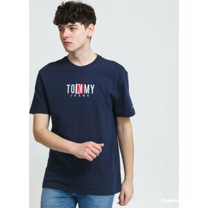 TOMMY JEANS M Timeless Tommy Box Tee navy XL