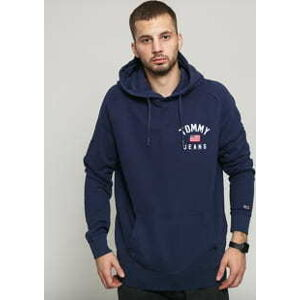 TOMMY JEANS M Washed Chest Graphic Hoodie navy XL