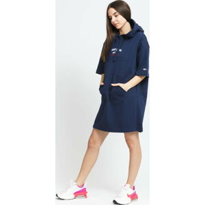 TOMMY JEANS W Timeless Script Hoodie Dress navy L