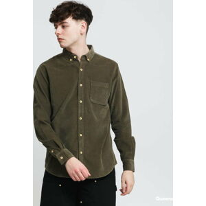 Urban Classics Corduroy Shirt olivová XXL