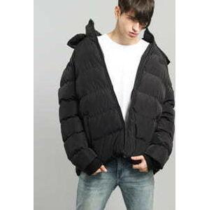 Urban Classics Hooded Puffer Jacket černá XL