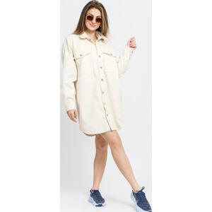 Urban Classics Ladies ong Corduroy Overshirt krémová