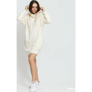 Urban Classics Ladies Organic Oversized Terry Hoody Dress krémové L