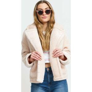 Urban Classics Ladies Oversize Sherpa Lapel Jacket světle růžová L