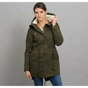 Urban Classics Ladies Sherpa Lined Cotton Parka olivová S