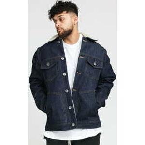 Urban Classics Sherpa Lined Jeans Jacket rinsed denim XXL