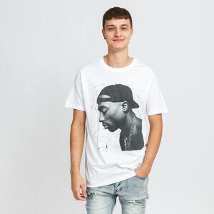 Urban Classics Tupac Cracked Background Tee bílé